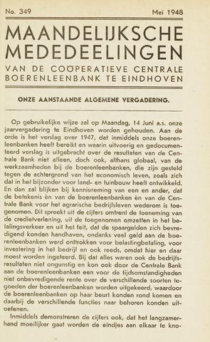 blad 'Maandelijkse Mededelingen' (CCB) 1948-05-01