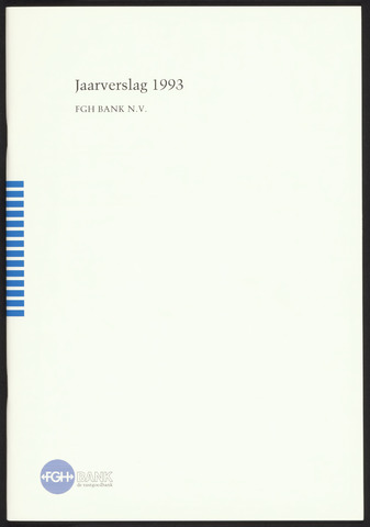 Jaarverslagen Friesch-Groningsche Hypotheekbank / FGH Bank 1993