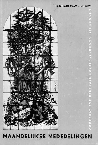 blad 'Maandelijkse Mededelingen' (CCB) 1962
