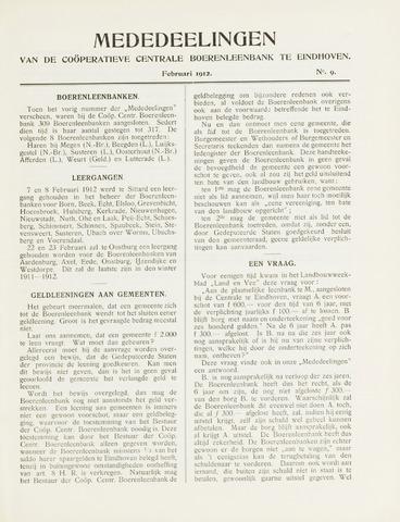 blad 'Mededeelingen' (CCB) 1912-02-01