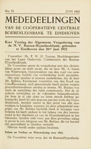 blad 'Maandelijkse Mededelingen' (CCB) 1922-06-01