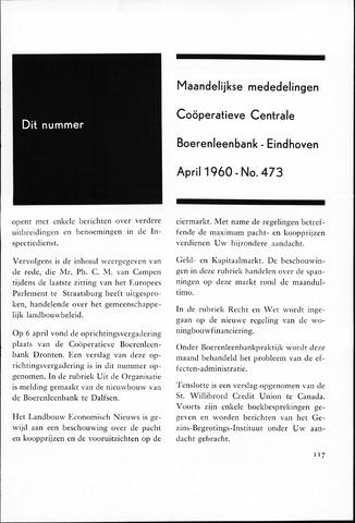 blad 'Maandelijkse Mededelingen' (CCB) 1960-04-01