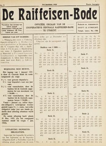 blad 'De Raiffeisen-bode' (CCRB) 1920-12-01