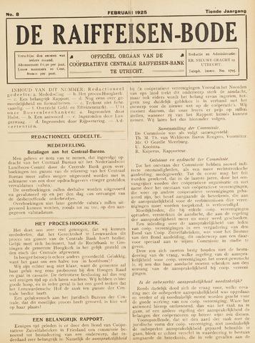 blad 'De Raiffeisen-bode' (CCRB) 1925-02-01
