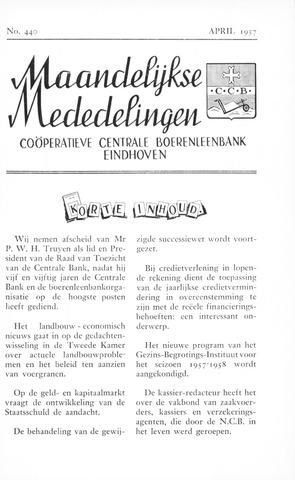 blad 'Maandelijkse Mededelingen' (CCB) 1957-04-01