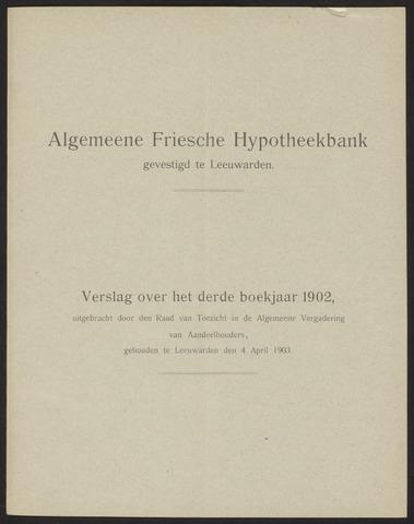 Jaarverslagen Algemeene Friesche Hypotheekbank 1902