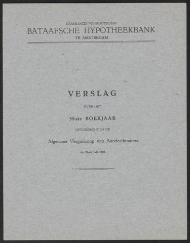 Jaarverslagen Bataafsche Hypotheekbank 1947