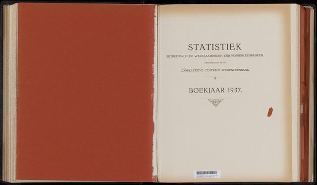 Statistiek aangesloten banken CCB 1937