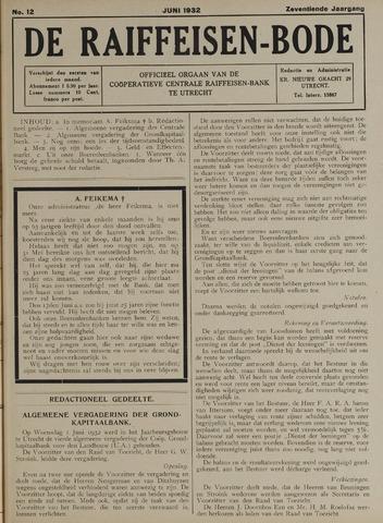 blad 'De Raiffeisen-bode' (CCRB) 1932-06-01