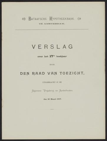 Jaarverslagen Bataafsche Hypotheekbank 1906