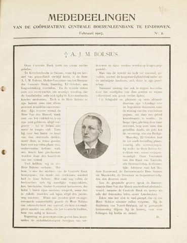 blad 'Mededeelingen' (CCB) 1907