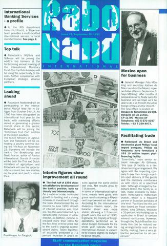 blad 'Raboband International' (EN) 1993-09-20