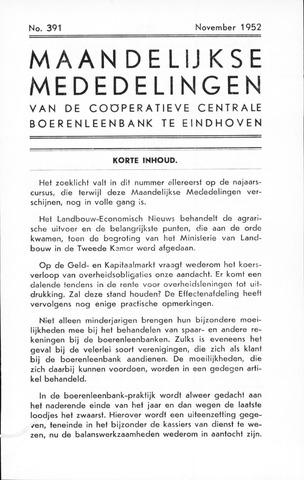 blad 'Maandelijkse Mededelingen' (CCB) 1952-11-01