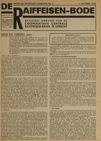 blad 'De Raiffeisen-bode' (CCRB) 1946-10-01
