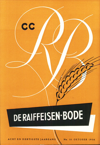 blad 'De Raiffeisen-bode' (CCRB) 1956-10-01