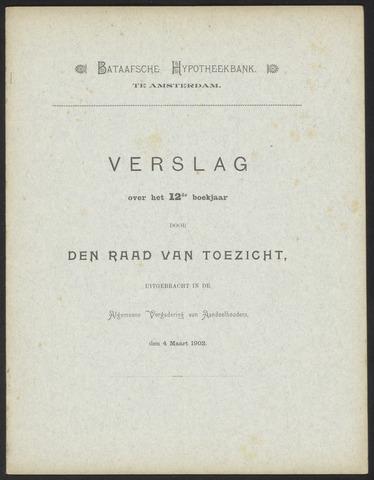Jaarverslagen Bataafsche Hypotheekbank 1901