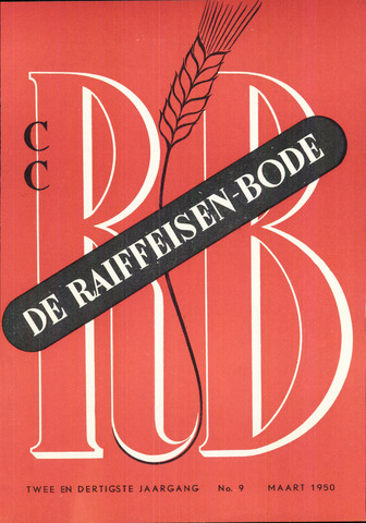 blad 'De Raiffeisen-bode' (CCRB) 1950-03-01