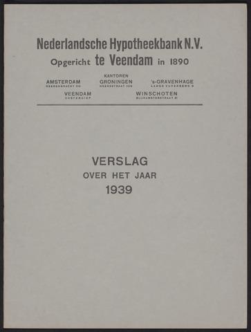 Jaarverslagen Nederlandsche Hypotheekbank 1939