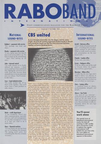 blad 'Raboband International' (EN) 1994-10-17