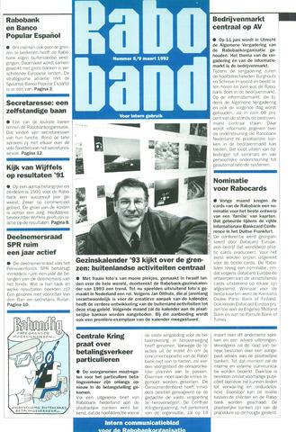 blad 'Raboband' 1992-03-09