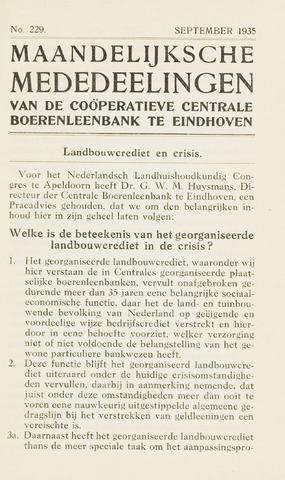 blad 'Maandelijkse Mededelingen' (CCB) 1935-09-01
