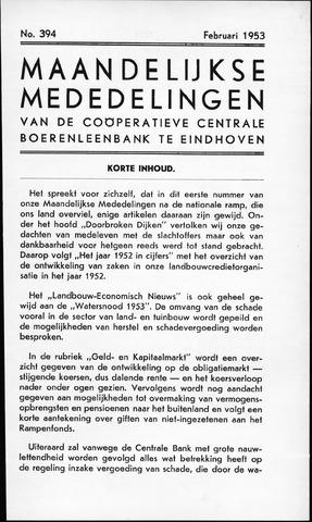 blad 'Maandelijkse Mededelingen' (CCB) 1953-02-01