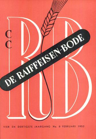 blad 'De Raiffeisen-bode' (CCRB) 1952-02-01