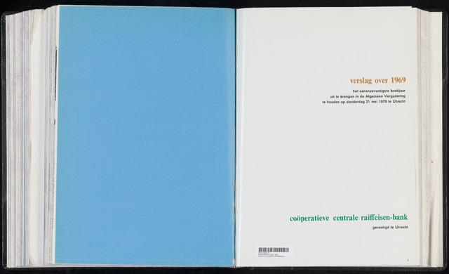 Jaarverslagen Coöperatieve Centrale Raiffeisen-Bank 1969-12-31