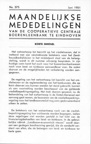 blad 'Maandelijkse Mededelingen' (CCB) 1951-06-01