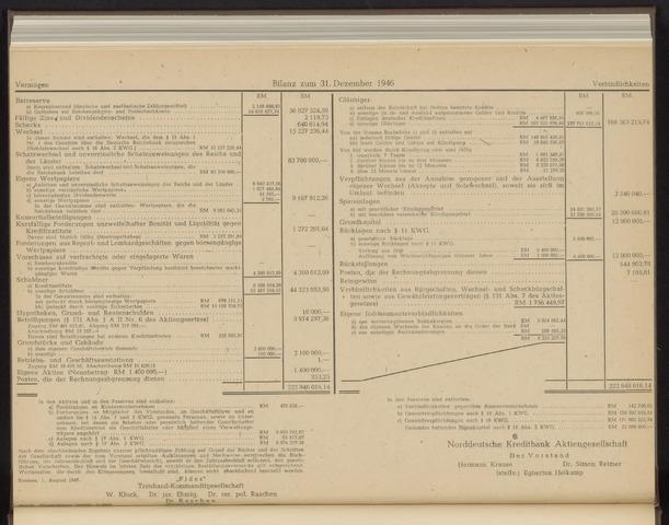 Geschäftsberichte Norddeutsche Kreditbank 1947-01-01