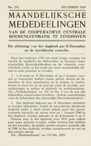 blad 'Maandelijkse Mededelingen' (CCB) 1939-12-01
