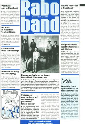 blad 'Raboband' 1992-06-09