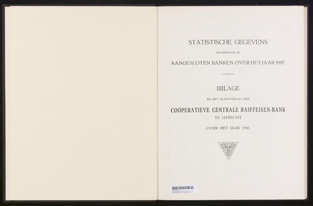 Mededelingen lokale banken CCRB 1947