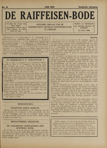 blad 'De Raiffeisen-bode' (CCRB) 1931-06-01