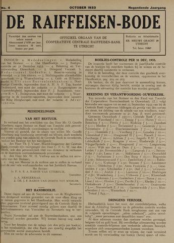 blad 'De Raiffeisen-bode' (CCRB) 1933-10-01
