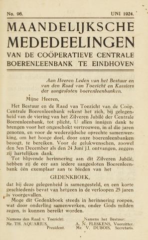 blad 'Maandelijkse Mededelingen' (CCB) 1924-06-01