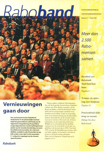 blad 'Raboband' 1995-06-19