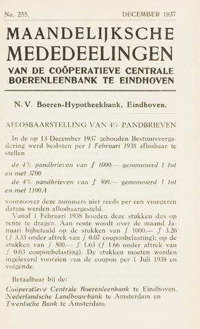 blad 'Maandelijkse Mededelingen' (CCB) 1937-12-01