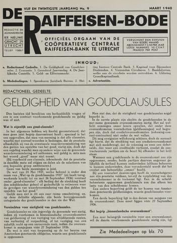 blad 'De Raiffeisen-bode' (CCRB) 1940-03-01