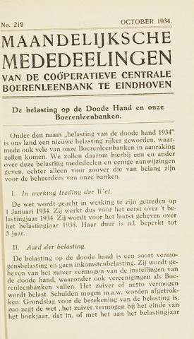 blad 'Maandelijkse Mededelingen' (CCB) 1934-10-01