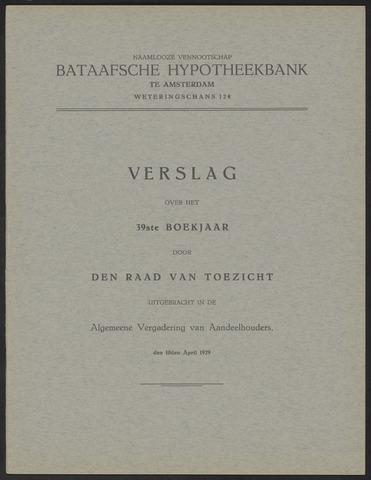 Jaarverslagen Bataafsche Hypotheekbank 1928