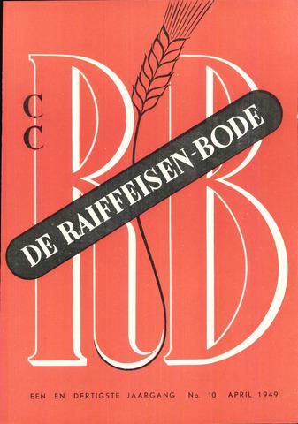 blad 'De Raiffeisen-bode' (CCRB) 1949-04-01
