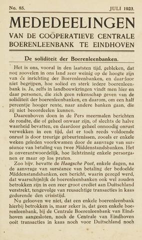 blad 'Maandelijkse Mededelingen' (CCB) 1923-07-01