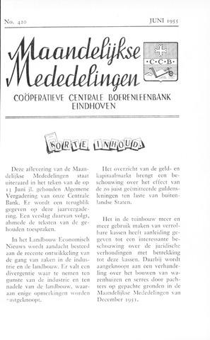 blad 'Maandelijkse Mededelingen' (CCB) 1955-06-01