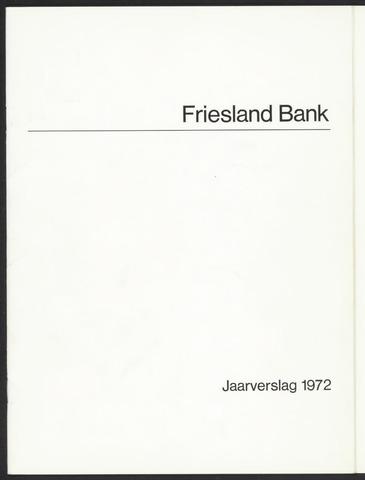 Jaarverslagen Friesland Bank 1972
