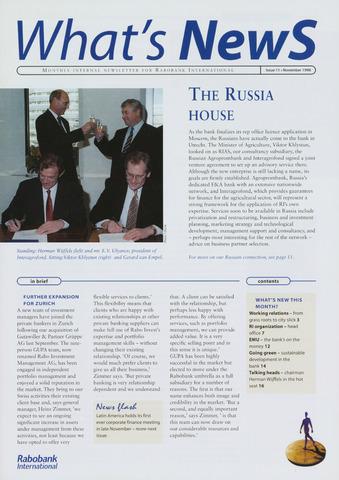 blad 'What's news' (EN) 1996-11-01