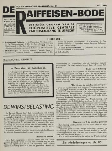 blad 'De Raiffeisen-bode' (CCRB) 1940-05-01