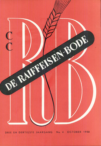 blad 'De Raiffeisen-bode' (CCRB) 1950-10-01