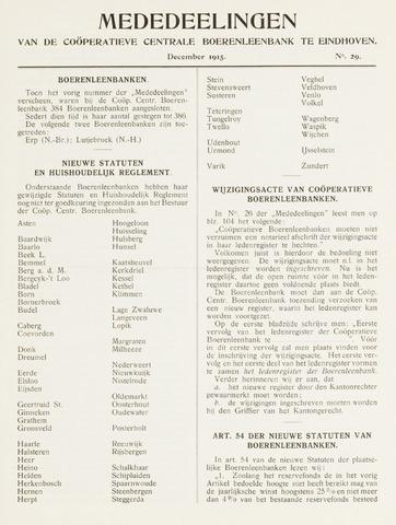 blad 'Mededeelingen' (CCB) 1915-12-01