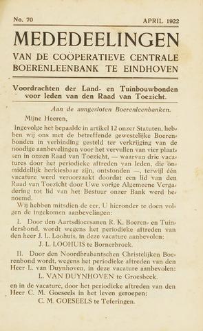 blad 'Maandelijkse Mededelingen' (CCB) 1922-04-01